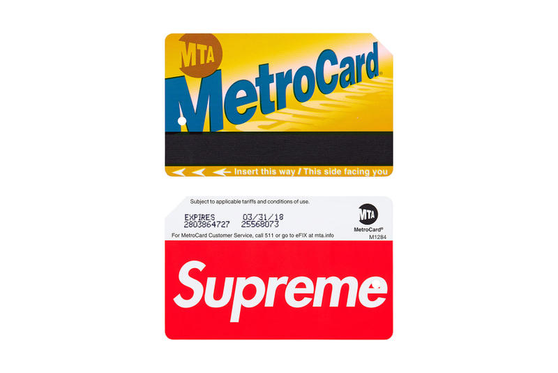 Supreme 2017 Spring Summer Accessories Coleman Rosa Acosta NYC Metrocard