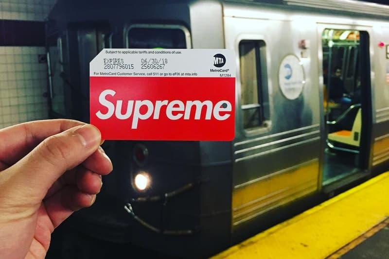 Supreme MetroCards New York Subway