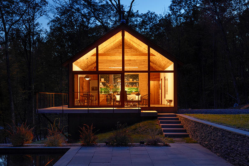 Upstate New York Cabin Gets Modernized With Sustainable Materials