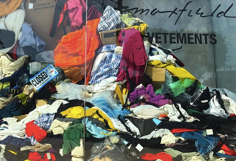 Vetements DRY CLEANING Pop Up Space Maxfield LA Exclusive Items