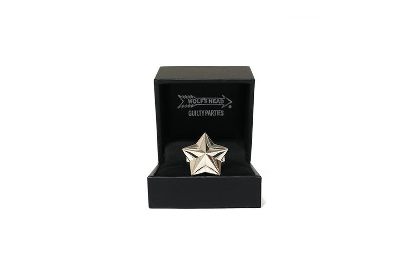 WACKO MARIA WOLF'S HEAD Star Rings Collection
