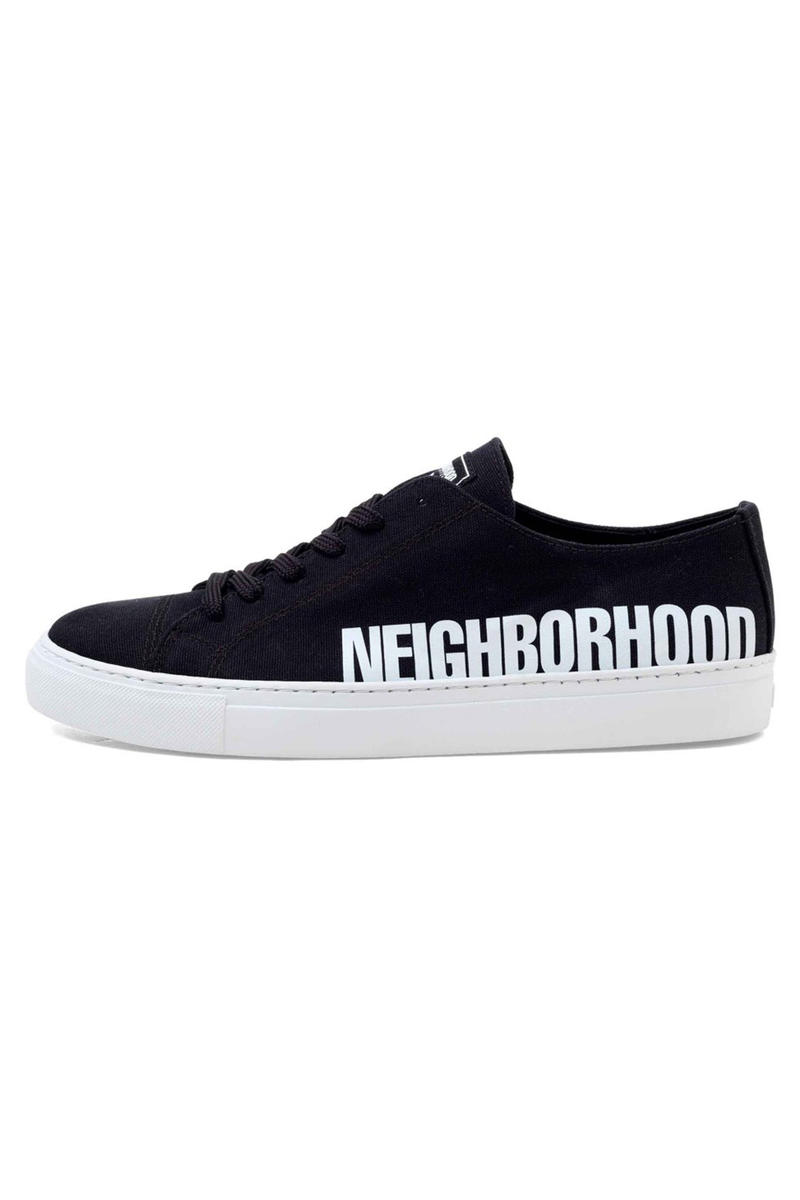 Wood Wood x Neighborhood Collaboration Black Sneakers Side