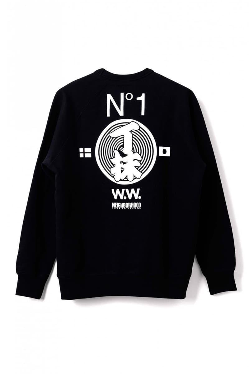 Wood Wood x Neighborhood Collaboration Black Sweatshirt Back