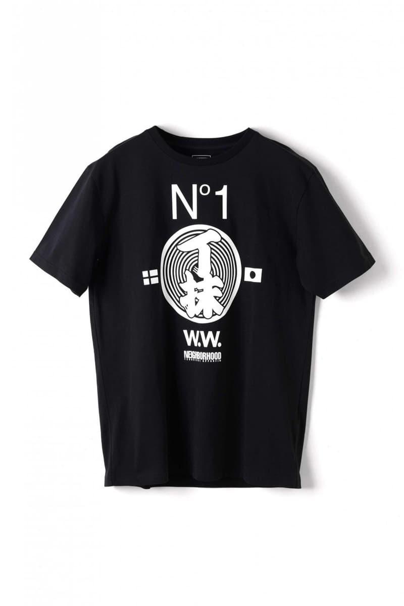 Wood Wood x Neighborhood Collaboration Black T-Shirt