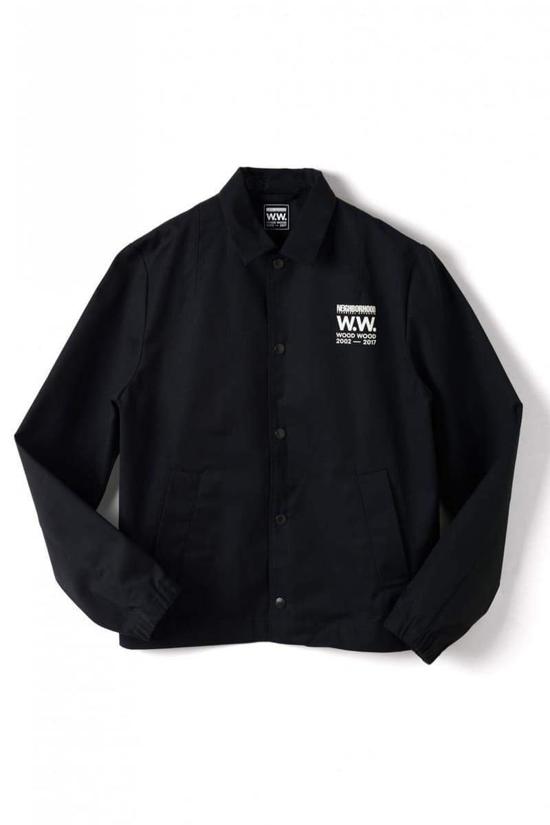 Wood Wood x Neighborhood Collaboration Black Coach Jacket