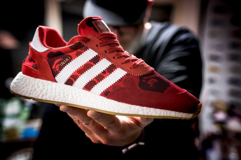 adidas Iniki Runner BOOST BAPE Custom Sneaker SneakersNBonsai