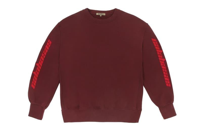 Kanye West x adidas Calabasas Collection Crewneck Red