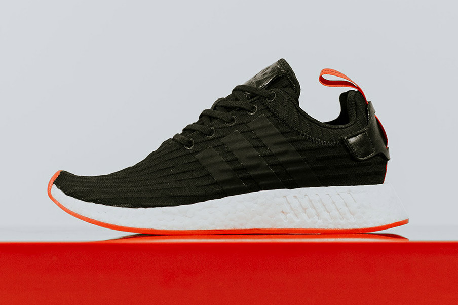 adidas NMD R2 in Black/Core Red   HYPEBEAST