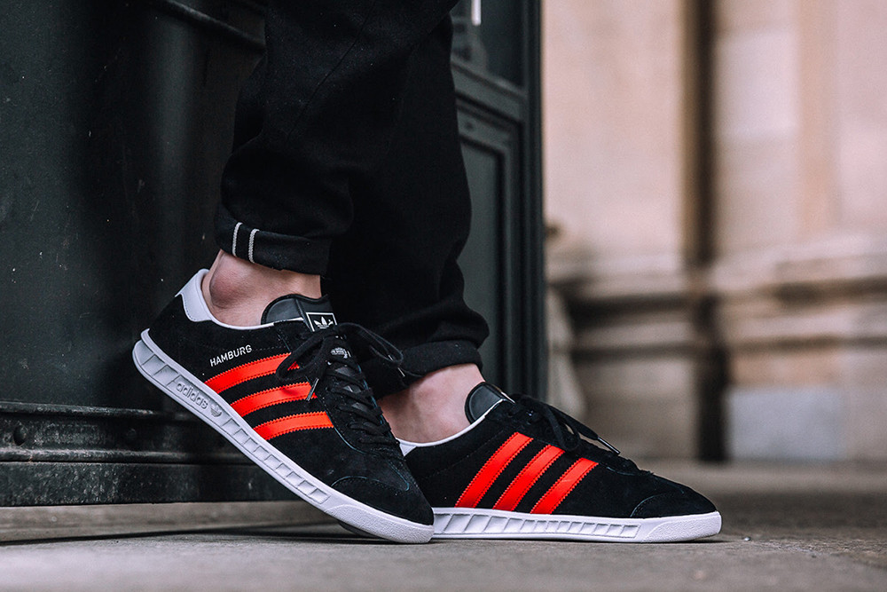 adidas Originals Hamburg Black/Red