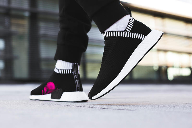 adidas Originals NMD City Sock 2 On-Feet Look Ronin Black Gray Silhouettes Footwear Sneakers Shoes