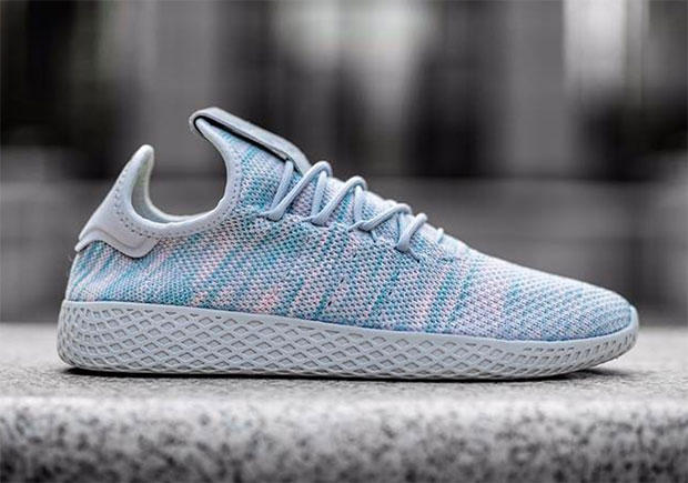 adidas Human Race Sneaker Teal Pink Three Stripes Germany Pharrell Williams Primeknit