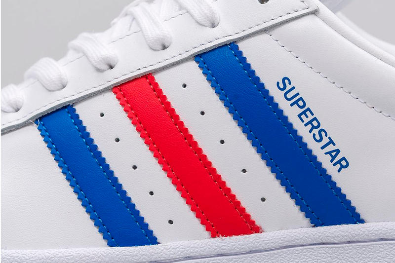 "adidas ""Tri-Color"" Superstar Red White Blue Three Stripes"