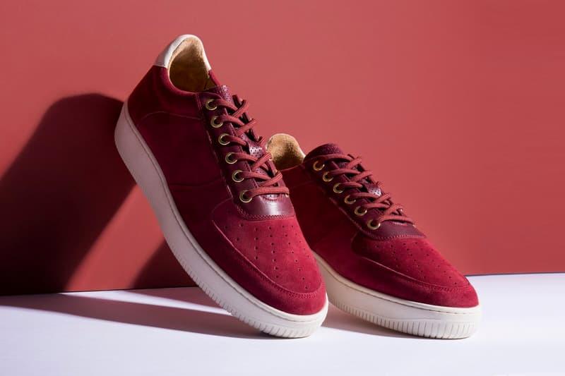 Aimé Leon Dore Q14 Sneaker in Burgundy Suede