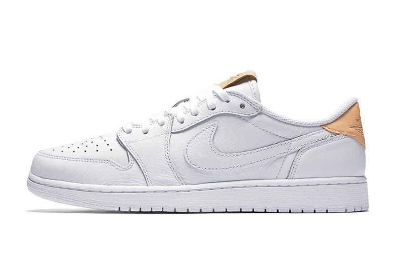 "42faea356d32 ... OG Premium ""Vachetta Tan"" Pack. Finished in premium tumbled white  leather. Air Jordan 1 Low"