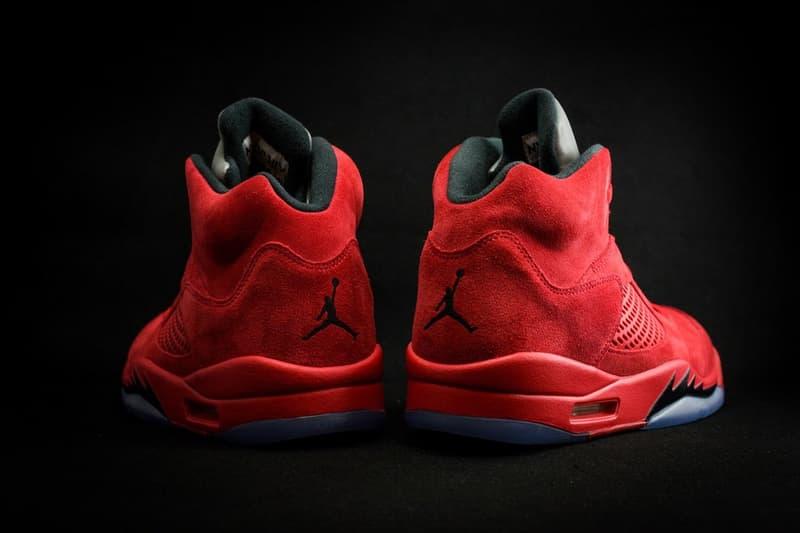 Air Jordan 5 Red Suede Jordan Brand Sneakers Basketball Shoes