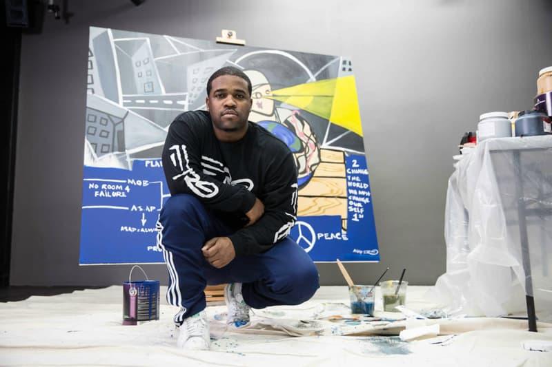 A$AP Ferg A$AP Yams Painting Charity Art Auction