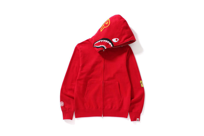 BAPE Shark Hoodies A Bathing Ape Streetwear Apparel Soft Goods