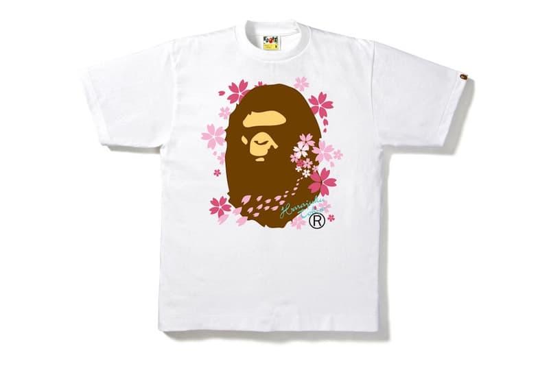 BAPE A Bathing Ape Sakura Tees 2017 Spring Collection