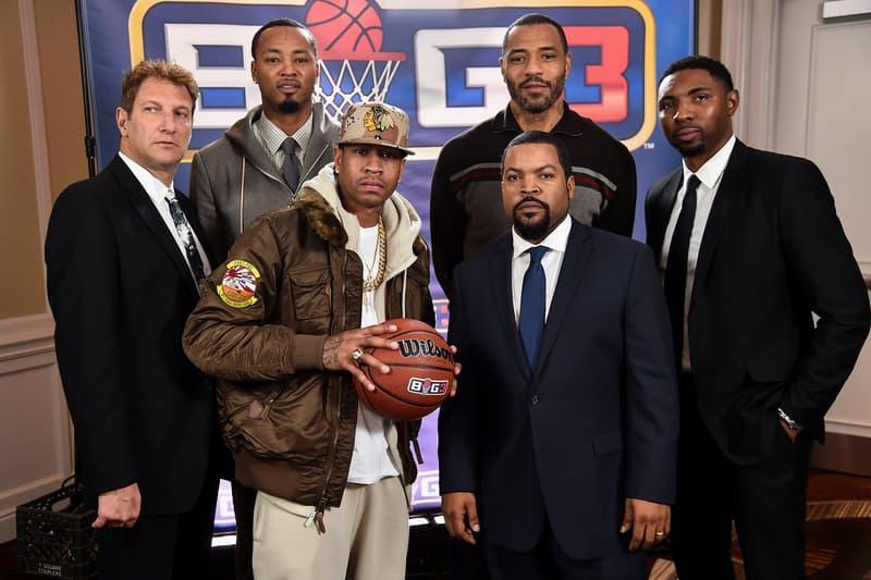 big3 three on three basketball professional league ice cube allen iverson rashard lewis kenyon martin