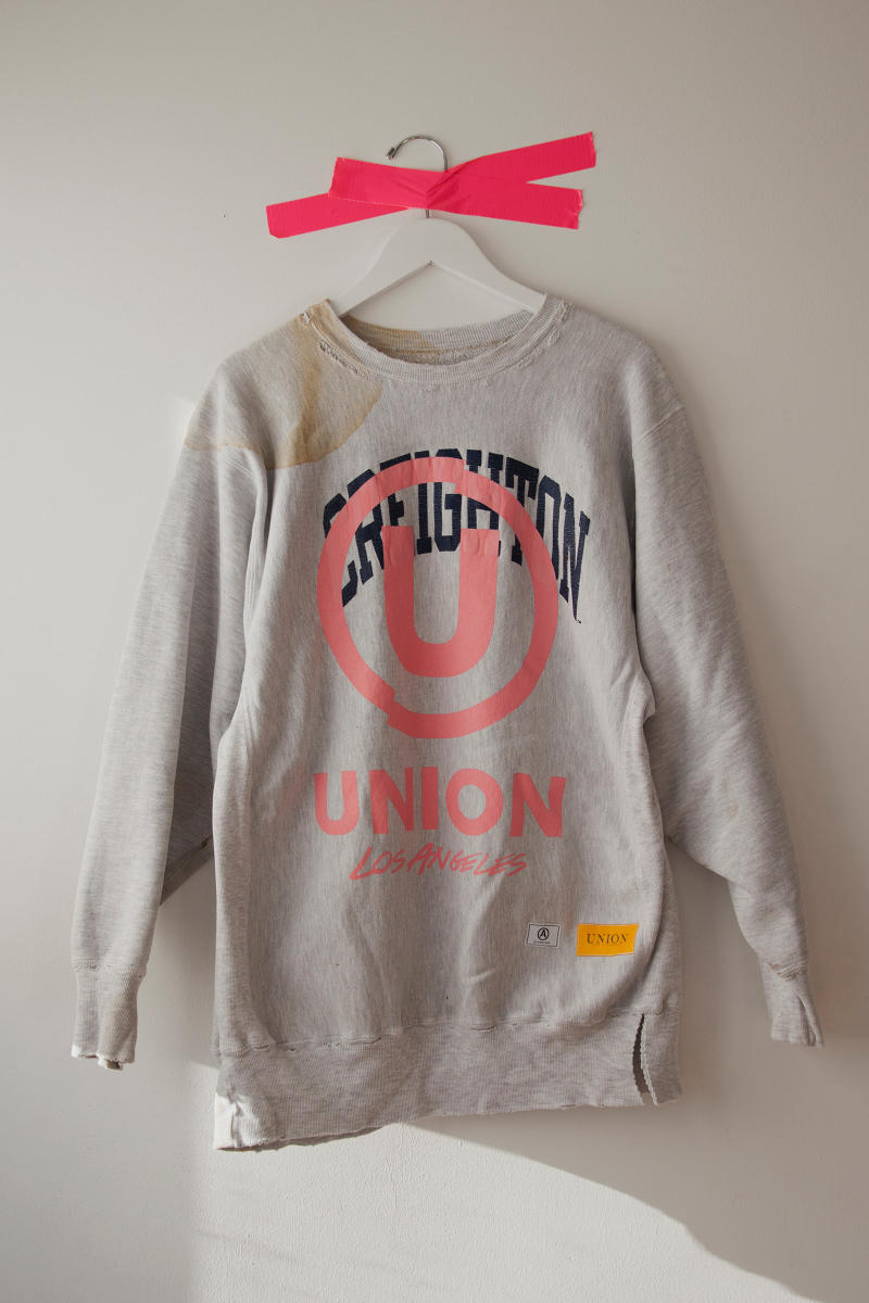 Union Los Angeles Champion Collegiate Crewnecks Grey Pullover
