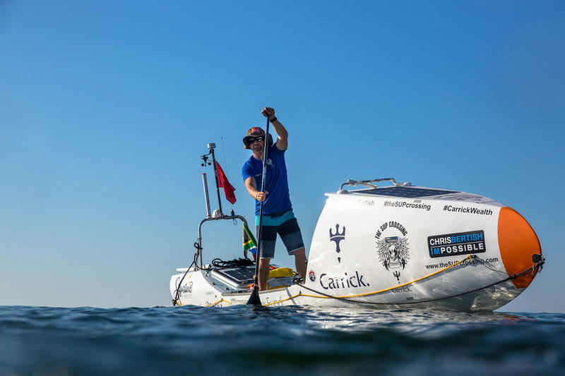 Chris Bertish On Paddle Board Guinness World Record