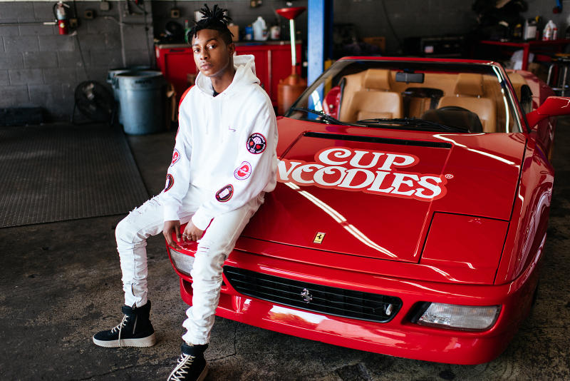 Young and Reckless Nissin Cup Noodles capsule collection custom ferrari red white