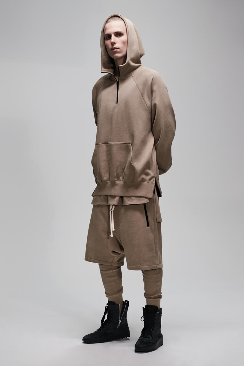 F.O.G. Essentials PacSun 2017 Spring Summer Hoodie Shorts Nude Tan