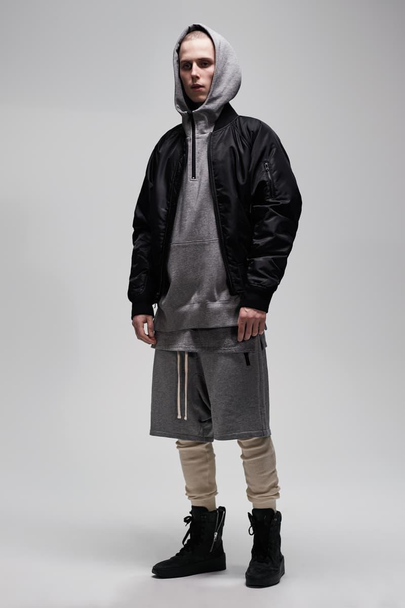 F.O.G. Essentials PacSun 2017 Spring Summer Hoodie Shorts Grey Jacket Black
