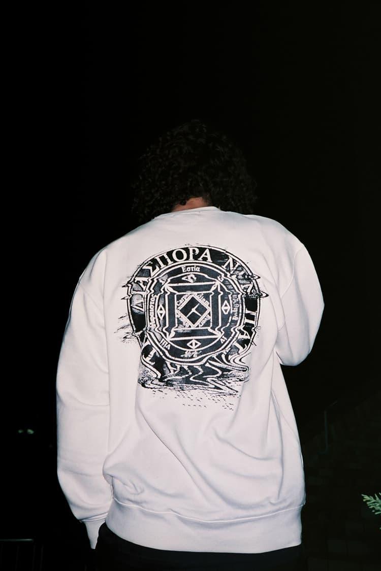 Fathom X Diaspora Skateboards White Sweatshirt