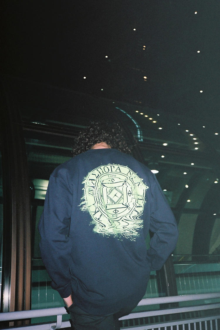 Fathom X Diaspora Skateboards Black Sweatshirt Back
