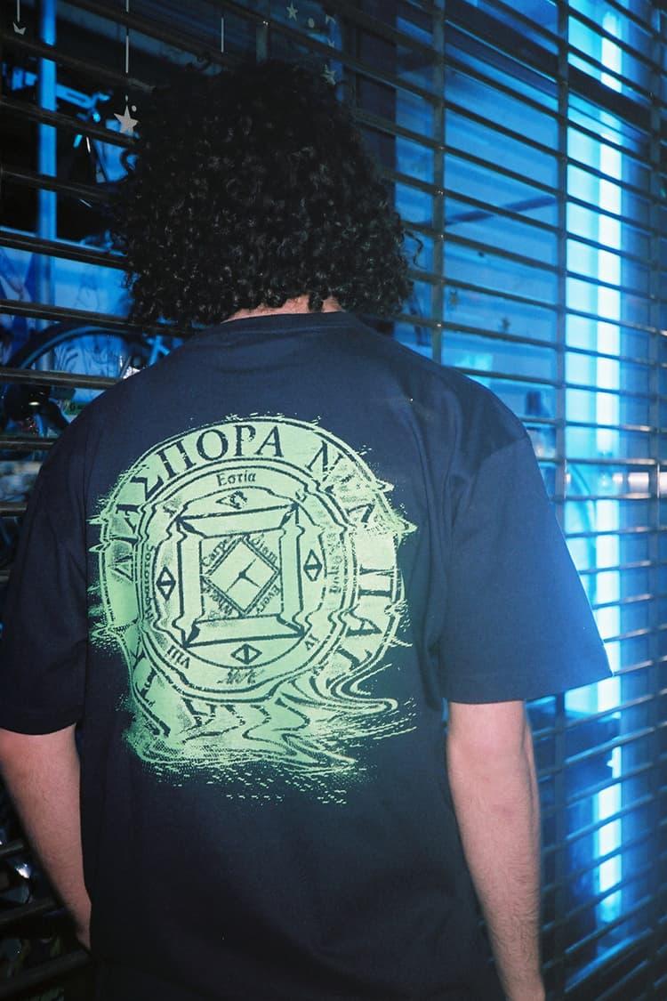 Fathom X Diaspora Skateboards Black T-Shirt Back