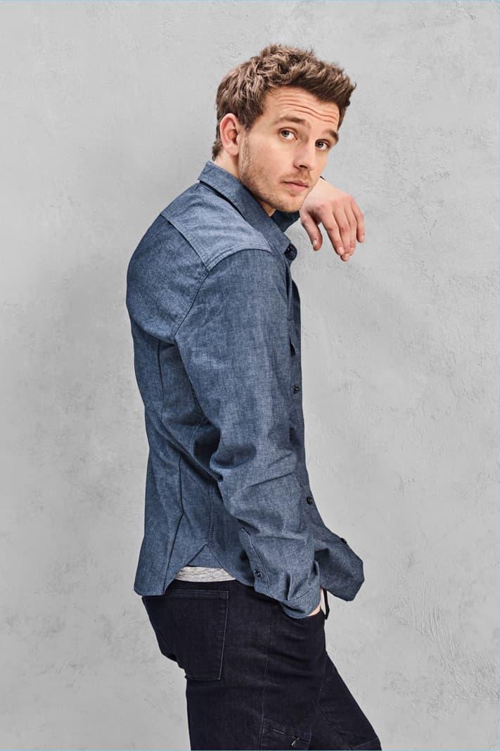 GAP Technical Denim Jeans Jacket Shirt