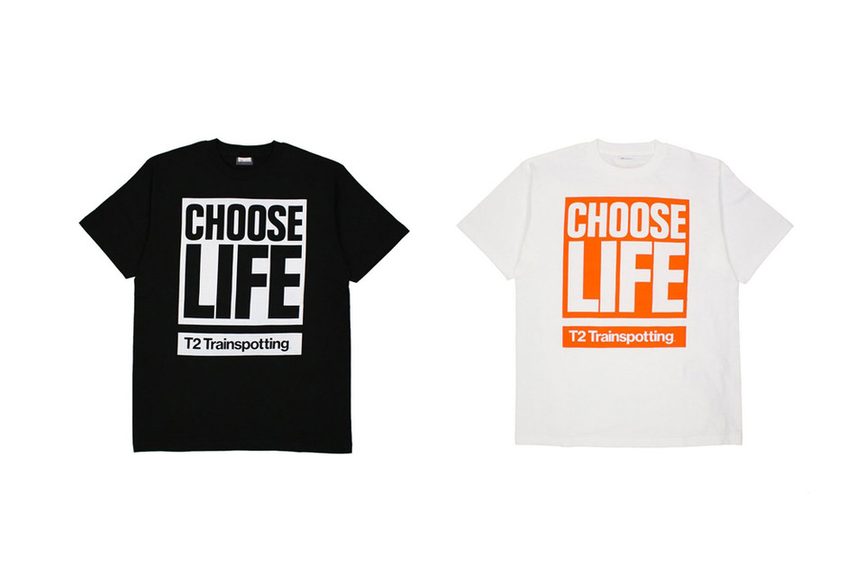 "0ab445391d88 Katharine Hamnett Designs Apparel and Merch for 'T2: Trainspotting'. ""CHOOSE  LIFE."