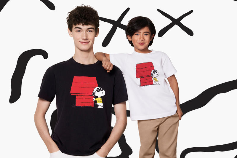 KAWS Peanuts Uniqlo UT Collection Joe KAWS Snoopy T-Shirt Black White
