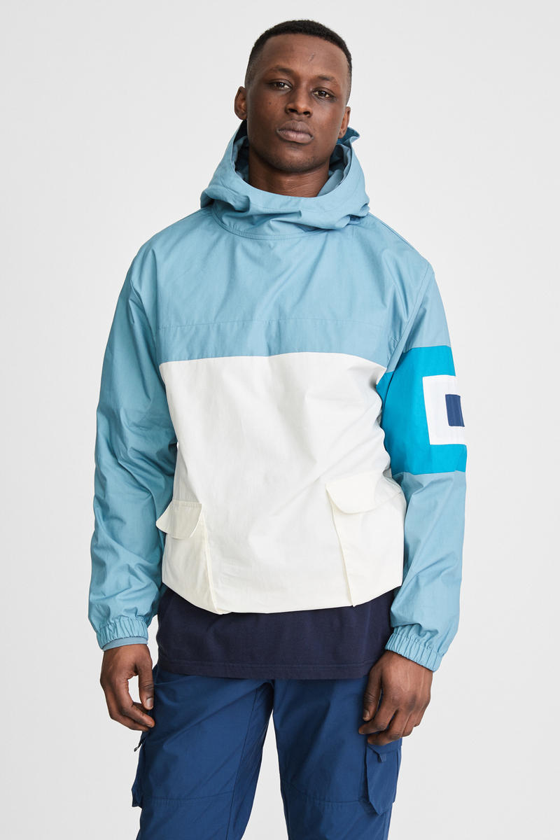KITH x Aimé Leon Dore Mykonos Collaboration Light Blue Nammos Pullover Sailing Jacket Front