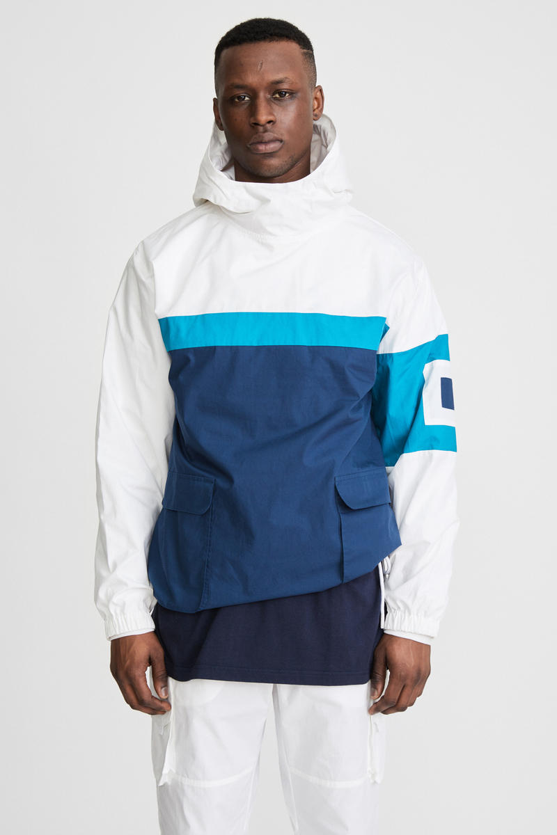 KITH x Aimé Leon Dore Mykonos Collaboration White Nammos Pullover Sailing Jacket Front
