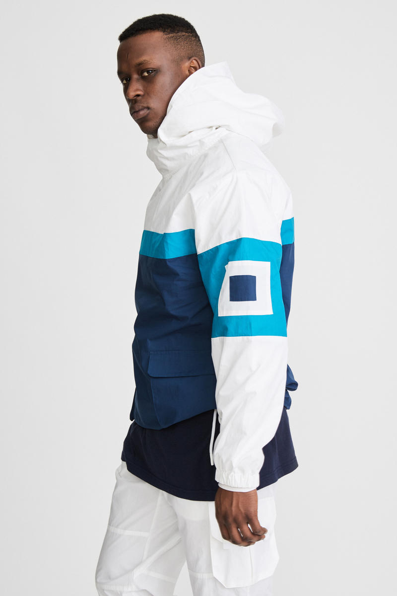 KITH x Aimé Leon Dore Mykonos Collaboration White Nammos Pullover Sailing Jacket Side
