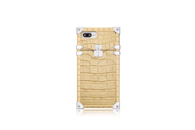 5ac7b4e93662 Louis Vuitton Eye-Trunk iPhone 7 Plus golden crocodile leather case