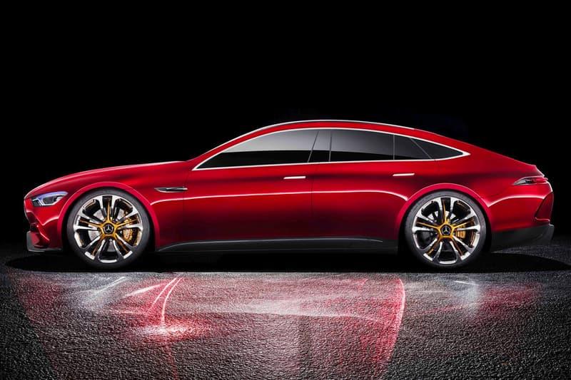 Mercedes-AMG Four-Door GT Concept Unveiled Geneva Motor Show Hybrid