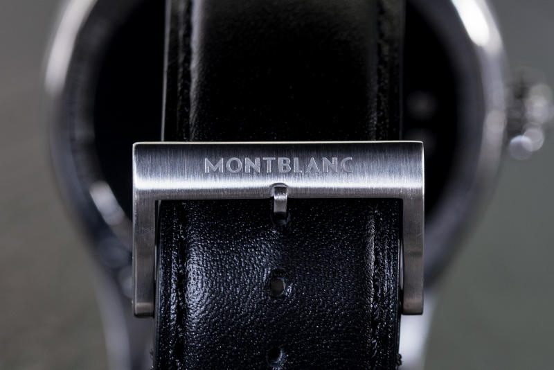 montblanc summit smart watch stainless steel band logo