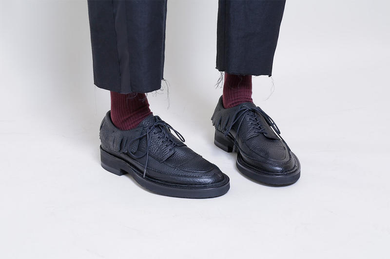 mythography's 2017 Fall/Winter Collection Is an Eclectic Dream Shoes Sandals Leather Wester Brogues Plaid