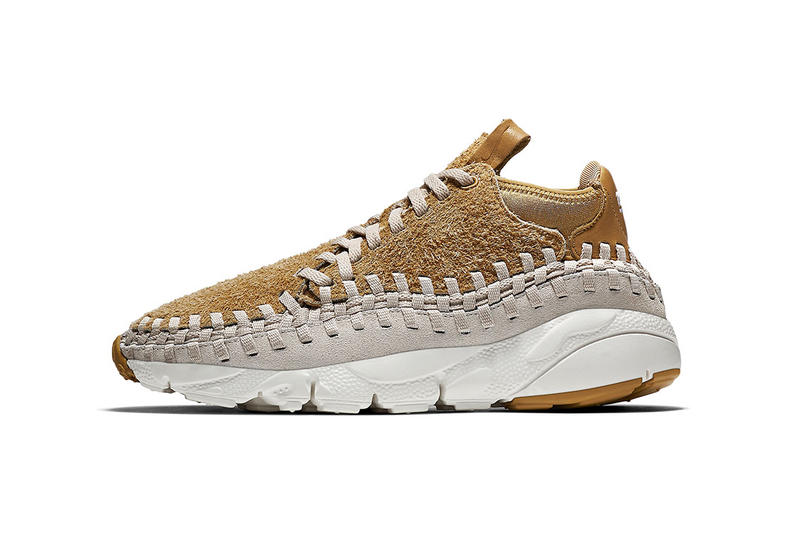 Nike Air Footscape Woven Chukka Hairy Suede Pack Flat Gold Light Orwood Brown Black