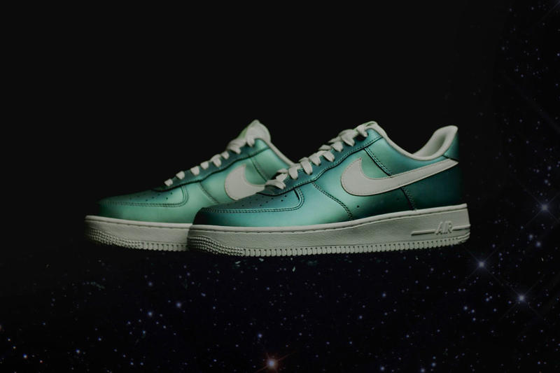 new style 27932 b765d Nike Air Force 1 Gets a Shiny