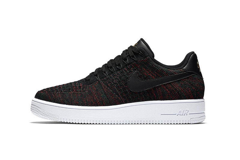 wholesale dealer 576cd 388be Nike Air Force 1 Low Flyknit Multicolor Burgundy Profile