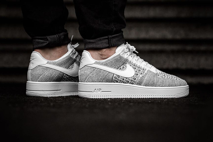 "newest e25f2 c29ca Nike Air Force 1 Ultra Flyknit Low Takes on A ""Cool Grey"" Makeover for"