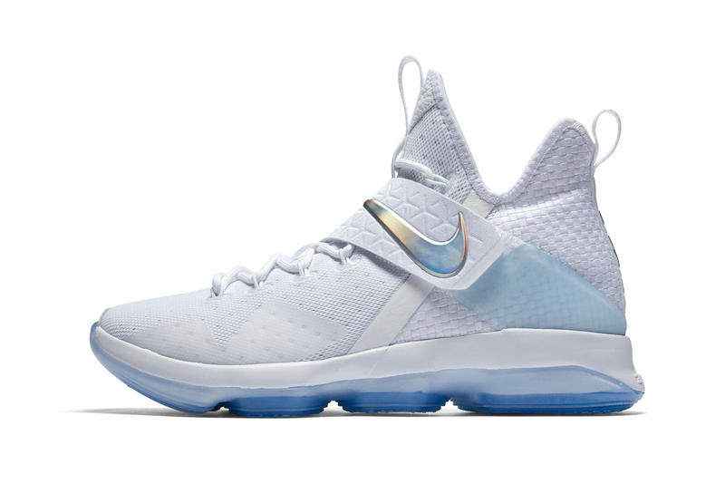 Nike LeBron 14 White Iridescent Translucent Profile
