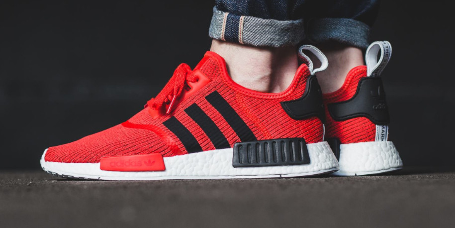 adidas nmd black and red
