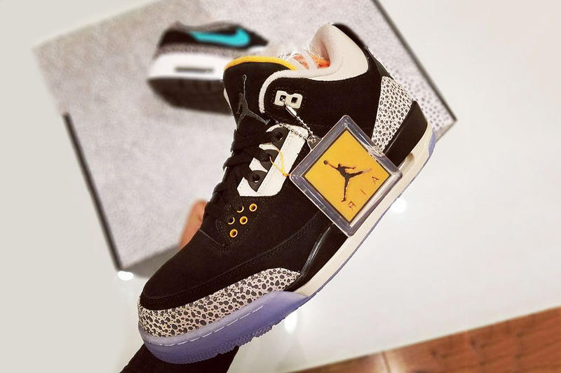 1a925c56c3ba Air Jordan 3 Safari in atmos Collaboration Pack