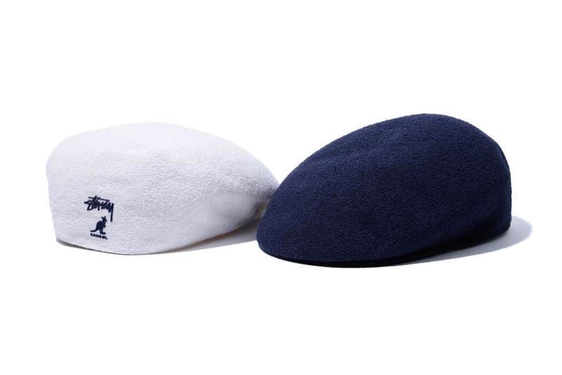 Stussy Kangol Bermuda 7100 Hat White Navy