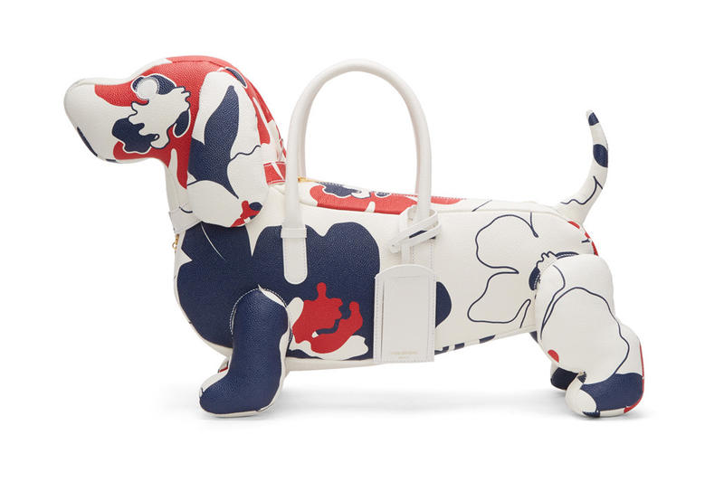 Thom Browne Introduces a Tricolor Floral Hector Dog Tote Leather Doggy Bag SSENSE
